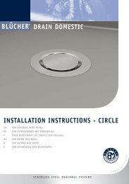 INSTALLATION INSTRUCTIONS - CIRCLE - Blücher