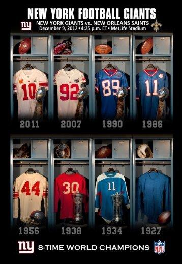 weekly release - New York Giants