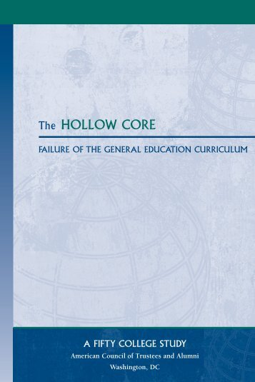 The HOLLOW CORE - The American Council of Trustees and Alumni