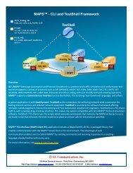 MAPS™ - CLI and TestShell Framework - GL Communications Inc