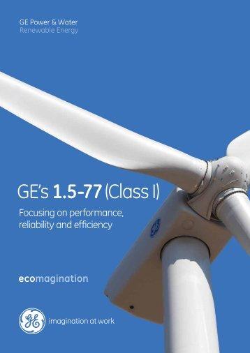 1.5-77 Brochure / PDF 221kb - GE Energy