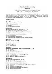 Bayerische Bauordnung (BayBO) - ZLT Lüftungs