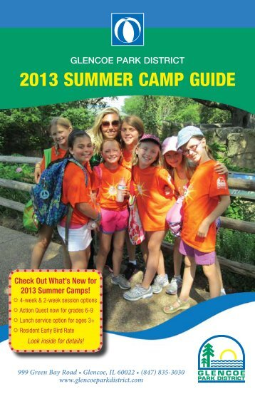 2013 SUMMER CAMP GUIDE - Glencoe Park District