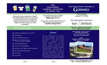 The Duplicating Center at - SUNY Geneseo