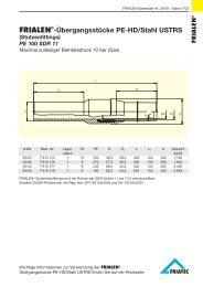 FRIALEN®-Übergangsstücke PE-HD/Stahl USTRS (Stutzenfittings)