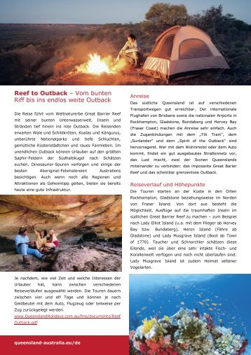 Download Reef To Outback Fact Sheet (*.pdf) - Global Spot