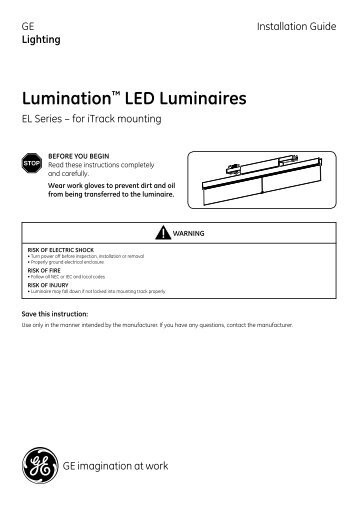 led lumination indoor luminaires el series data ge lighting. Black Bedroom Furniture Sets. Home Design Ideas