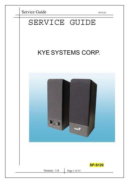 SP-S120 Service Guide 070802.pdf - Genius