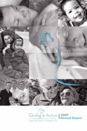 2009 Annual Report - The Giving in Action Society