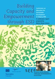 Building Capacity and Empowerment through ESD Building - SEED