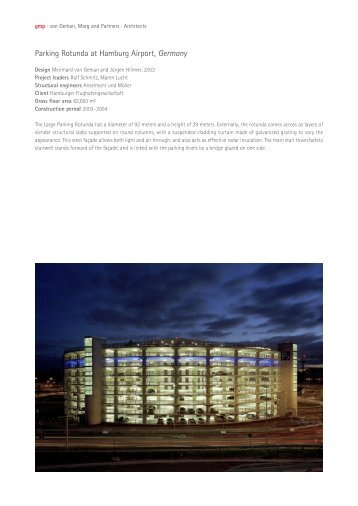Parking Rotunda at Hamburg Airport, Germany - gmp Architekten ...