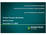 clean development mechanism oportunities for sustainable based ...