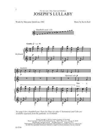 JOSEPH'S LULLABY - GIA Publications