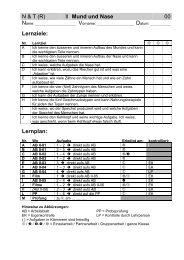 N & T (R) II Mund und Nase 00 Lernziele: Lernplan: - Gegenschatz.net