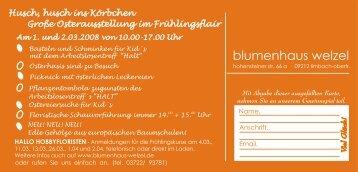 Husch, husch ins Körbchen Große ... - Blumenhaus Welzel