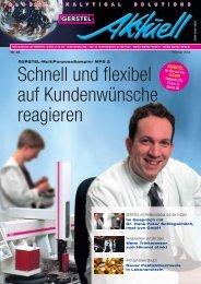 GERSTEL Aktuell Nr. 30 (pdf; 0,69 MB) - Gerstel GmbH & Co.KG