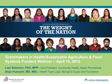 Weight of the Nation Presentation - Grantmakers In Health