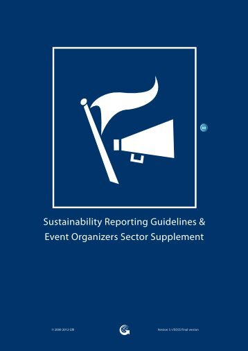 Event Organizers Sector Supplement - Global Reporting Initiative