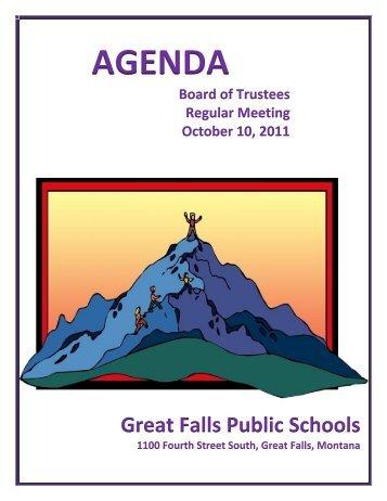 AGENDA - Great Falls Public Schools