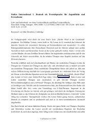 Stufen International 1. Deutsch als Fremdsprache für ... - GFL-Journal