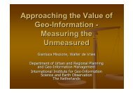 Approaching the Value of Geo-Information - Measuring the ...