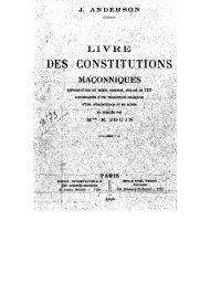 Livre des constitutions maçonniques - Grand Lodge Bet-El