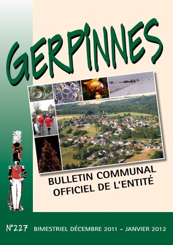 Bulletin communal officiel de l'entité - Gerpinnes