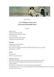 ETA Hoffmanns Meister Floh - Das Goethezeitportal