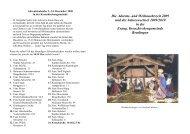 Adventskalender 1 - Evangelische Kreuzkirchengemeinde Reutlingen
