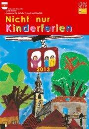 Nicht nur Kinderferien - 2013 (Broschüre) - Stadtgemeinde Bozen