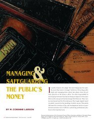 Managing and Safeguarding the Public's Money - Government ...