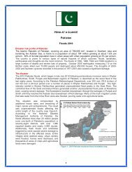 PDNA At a Glance: Pakistan, Floods 2010 - GFDRR