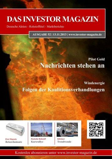 Das Investor Magazin - Ausgabe 52