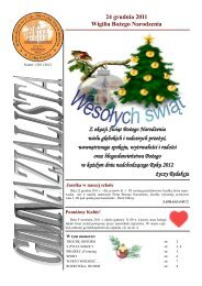 gimnazjalista 1/2011/2012 - Gimnazjum nr 2 im. Henryka ...