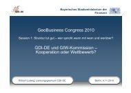 GDI-DE und GIW-Kommission - Kooperation oder ... - GeoBusiness