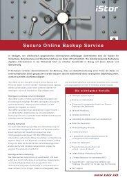 Secure Online Backup Service