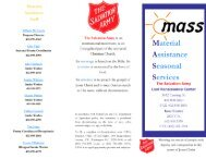MASS Brochure - Salvation Army