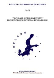 Transport Sector Investment Decision-Making in the Baltic ... - Helcom