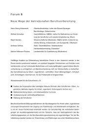 Neue Wege der betriebsnahen Berufsvorbereitung - GIB NRW