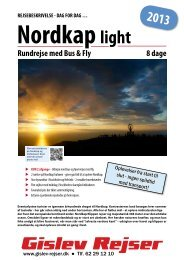 Nordkap light 8 dage Rundrejse med Bus & Fly ... - Gislev Rejser