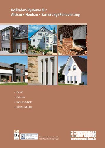 Rollladen-Systeme für Altbau • Neubau • Sanierung/Renovierung