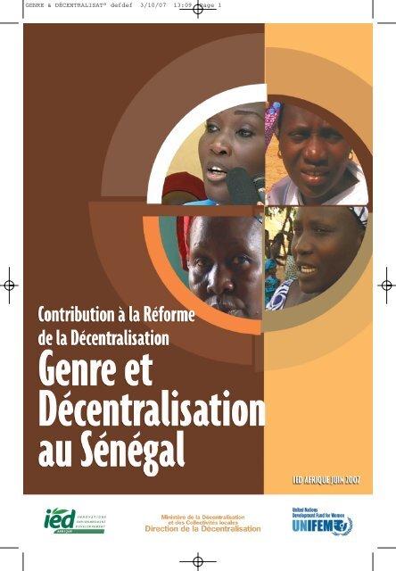 Genre et Decentralisation au Senegal - Gender Responsive Budgeting