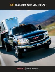 2007 trailering with gmc trucks - GM Canada