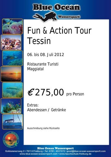 Fun & Action Tour Tessin - Blue Ocean Wassersport