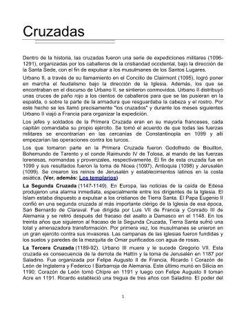 Las Cruzadas y La Iglesia Católica - Gran Fratervidad Tao Gnóstica ...