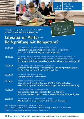 Flyer zum Download - Deutsches Seminar - Leibniz Universität ...