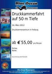 Druckkammerfahrt auf 50 m Tiefe 24. März 2012 - Blue Ocean ...
