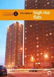 Fire Safety in high rise flats