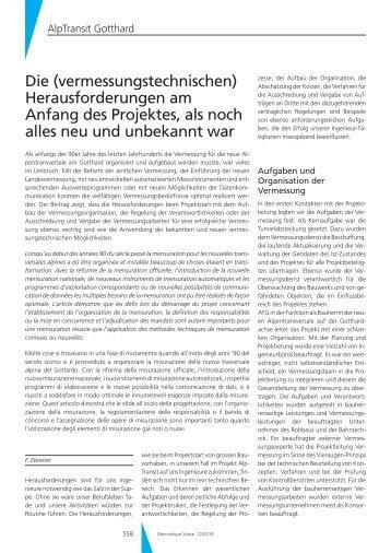 Die (vermessungstechnischen) - Geomatik Schweiz