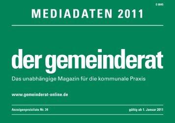 MEDIADATEN 2011 - Der Gemeinderat